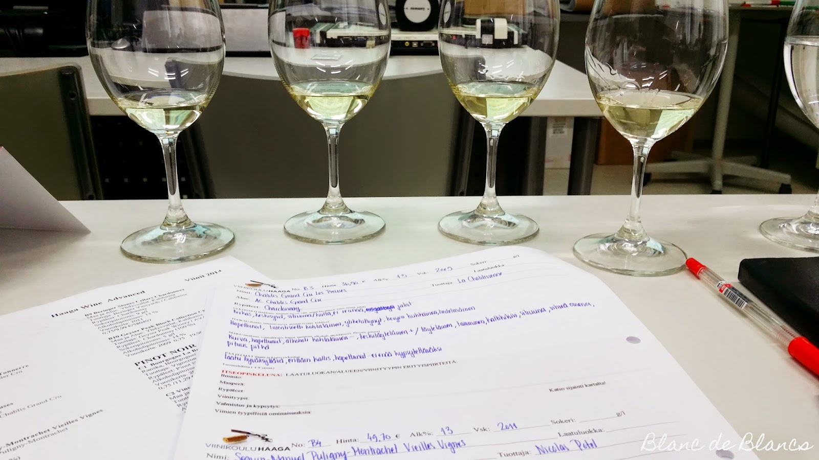 WSET HaagaPerho viininmaistelu - www.blancdeblancs.fi