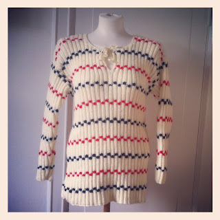 Marshmallow Electra vintage sweater Pippi Långstrump Longstocking