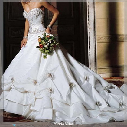 Flower cheap wedding dresses