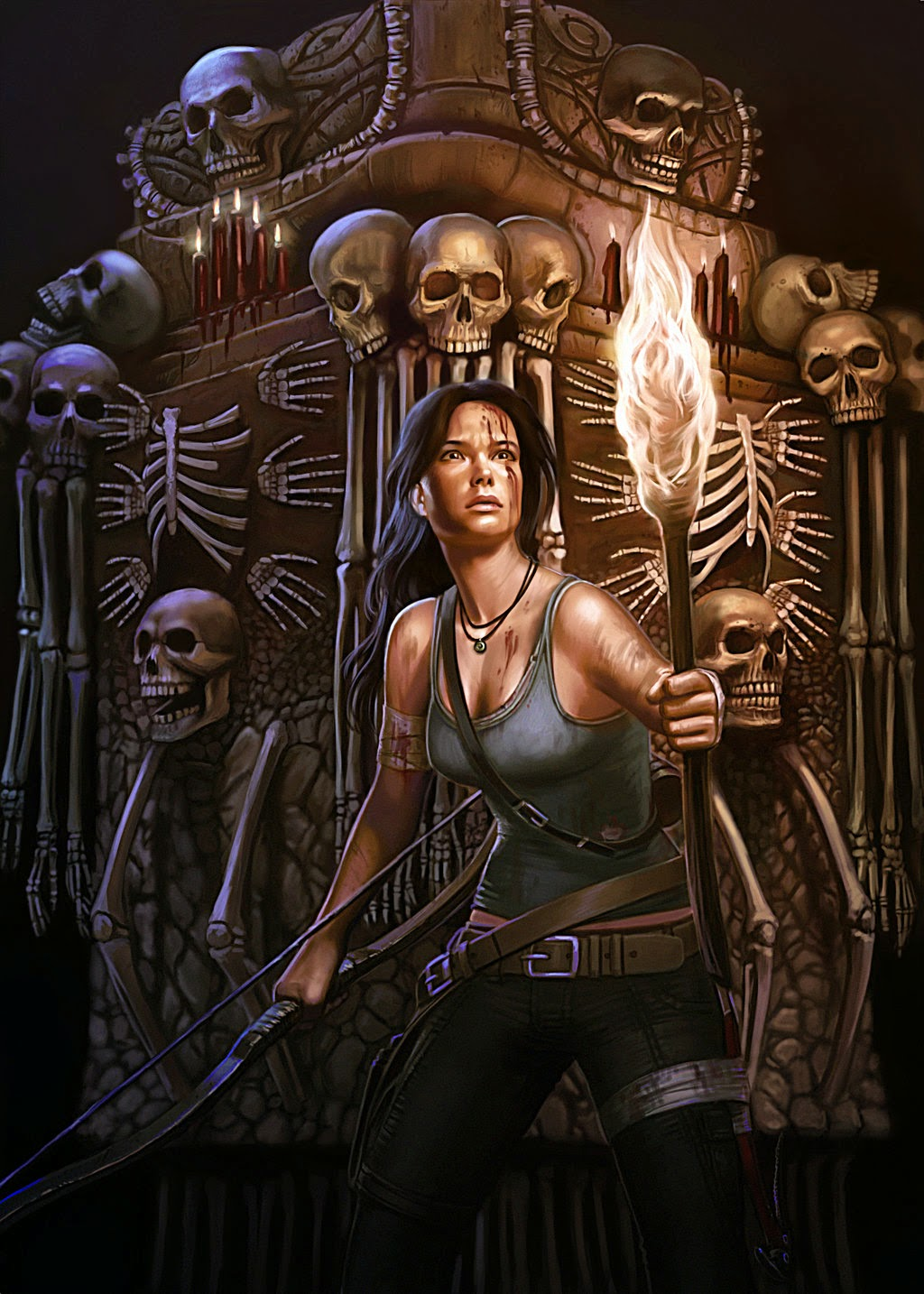 illustration de LaVata E. O'neal représentant Lara croft du jeu Tomb raider