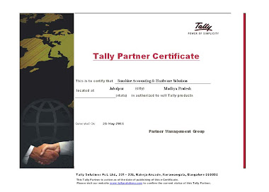 Tally Partnership Certificate
