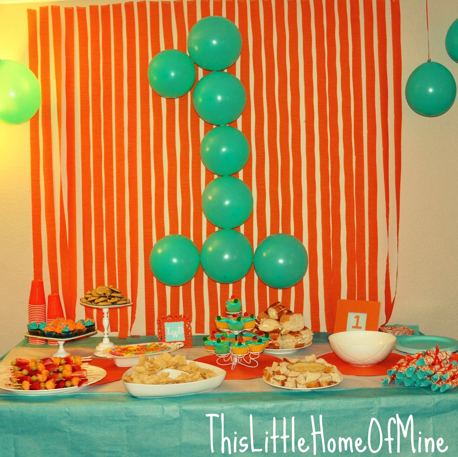 This little home of mine a very first birthday party for Bday decoration