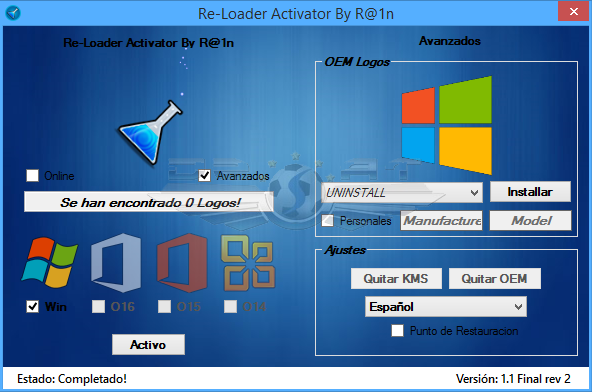 الأداة المتميزة Re-Loader Activator 1.1 Final Rev 4 لتفعيل جميع منتجات Microsoft