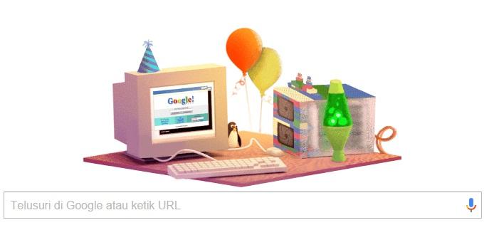 27 September 2015 Ulang Tahun Google Ke 17 Selamat Ultah Google Jadi Logo Doodle Hari ini
