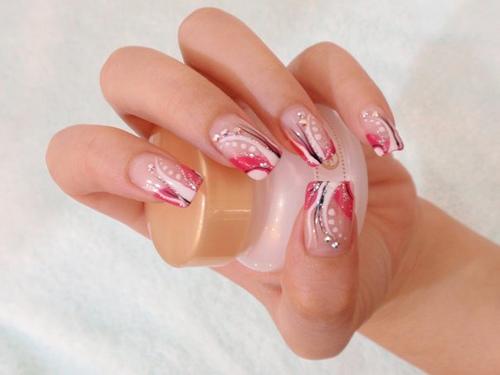 Pink Nail Art Designs Beauty Tips Info