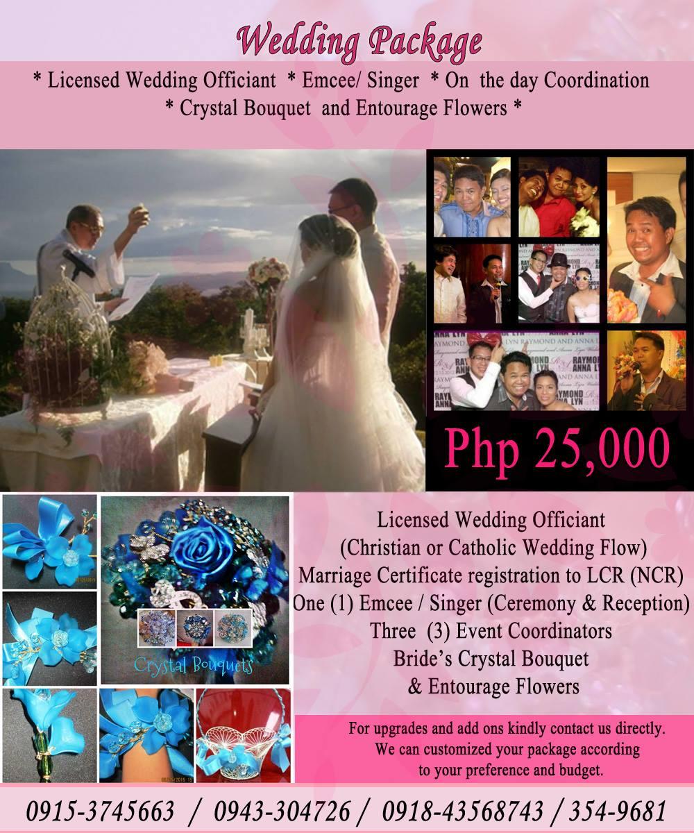 SIMPLE WEDDING SET UP MENU