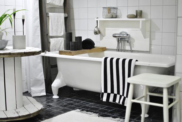 hannashantverk.blogspot.se badrum bathroom badkar handduksstege kabeltrumma