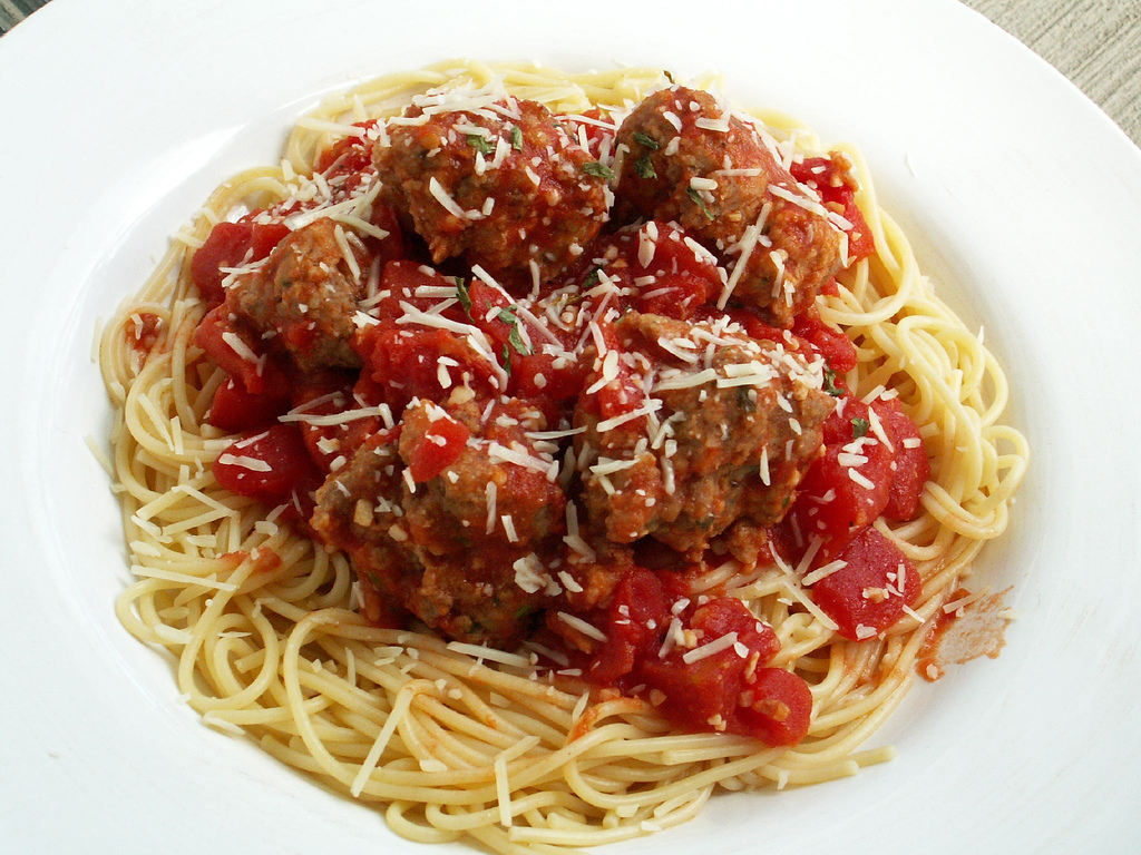 Spaghetti and meatba