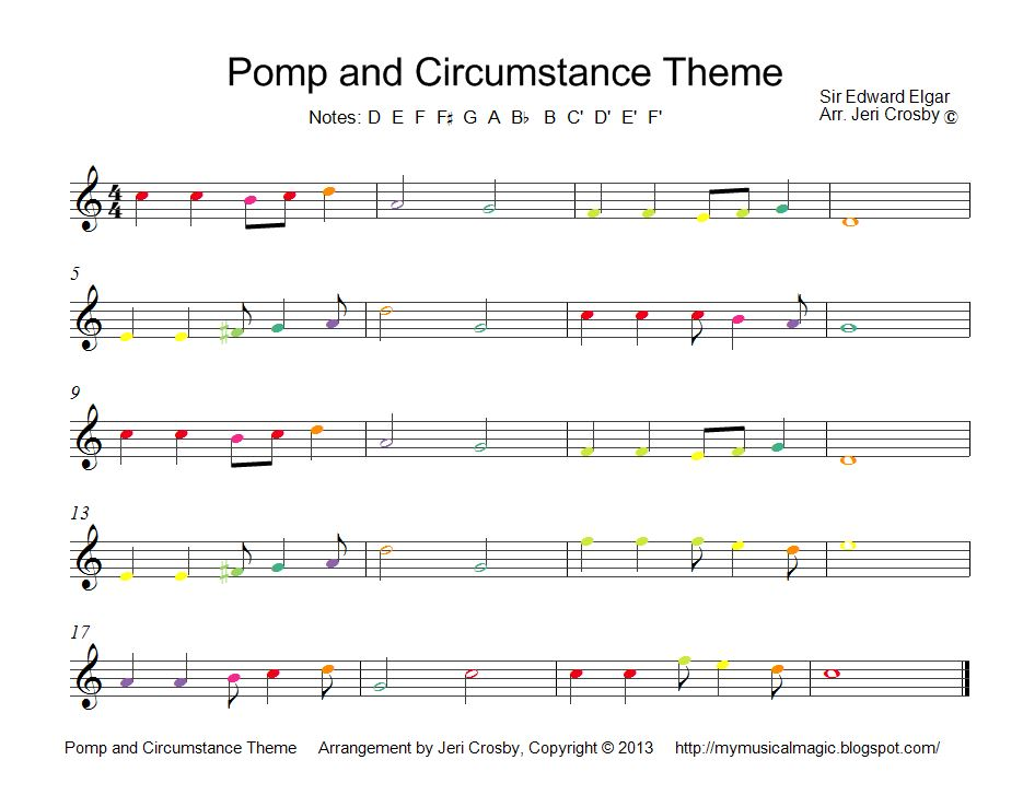 Mymusicalmagic april 2013 for Pomp and circumstance