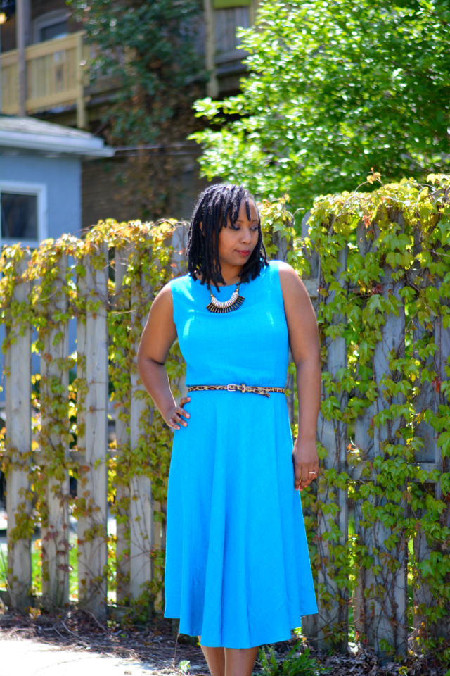 turquoise peasant dress