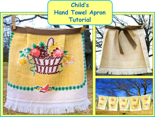 Child's Hand Towel Apron Tutorial