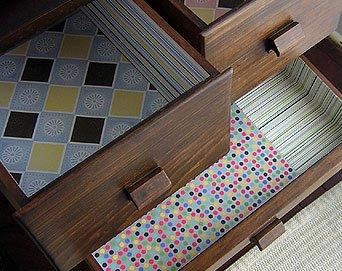 Palavra de caprichosas como forrar as gavetas do seu guarda roupa - Como forrar un armario por dentro ...