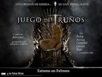 Juego de Tronos, Bárcenas, PP. Rajoy , Is pain