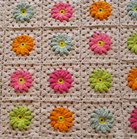 Crochet Pattern Flower Square III