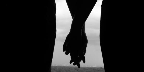 cartoon holding hands. Holding Hands Cartoon Image.