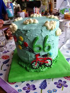 Geburtstagstorte, Fondanttorte, Torte, Geburtstag, Fahrrad