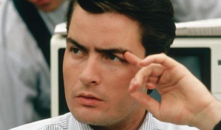 Charlie Sheen en Wall Street.
