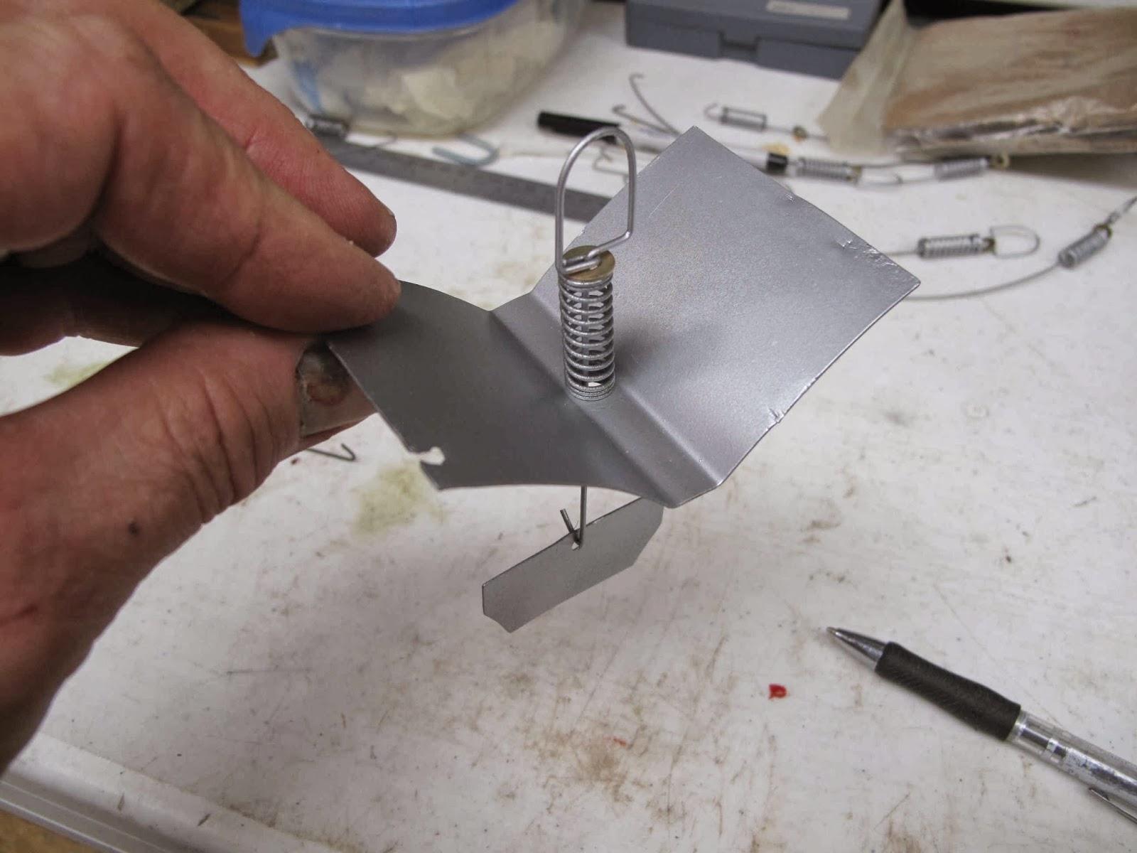 Cessna 140 Rebirth: Baffle Spring Fastener - Wires