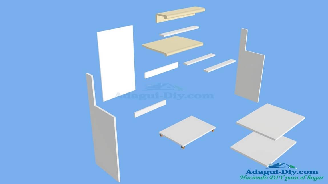 Mueble de cocina para microondas con gaveta web del for Mueble auxiliar microondas