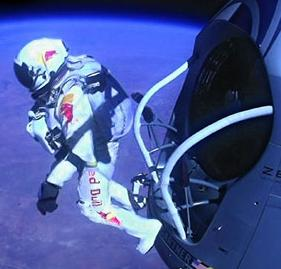 Felix Baumgartner leaps into space