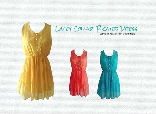 Lacey Collar Pleated Dress