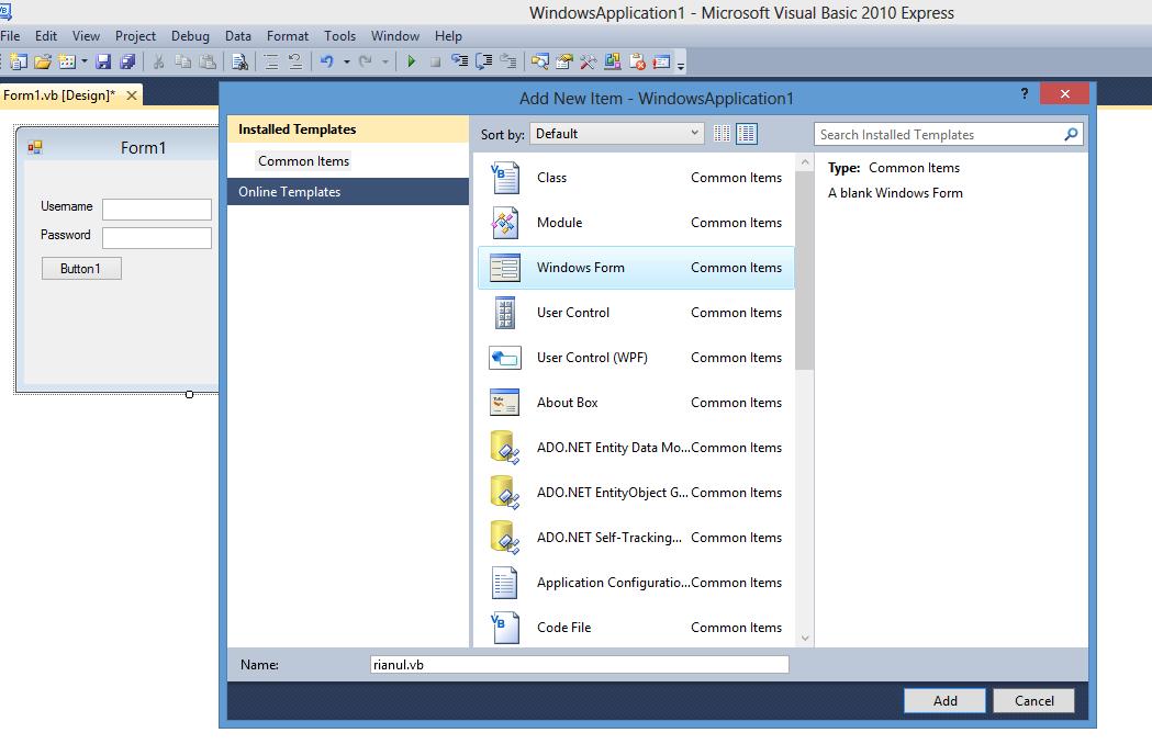 Cara Membuat Sistem Login Sederhana Dengan VB.NET