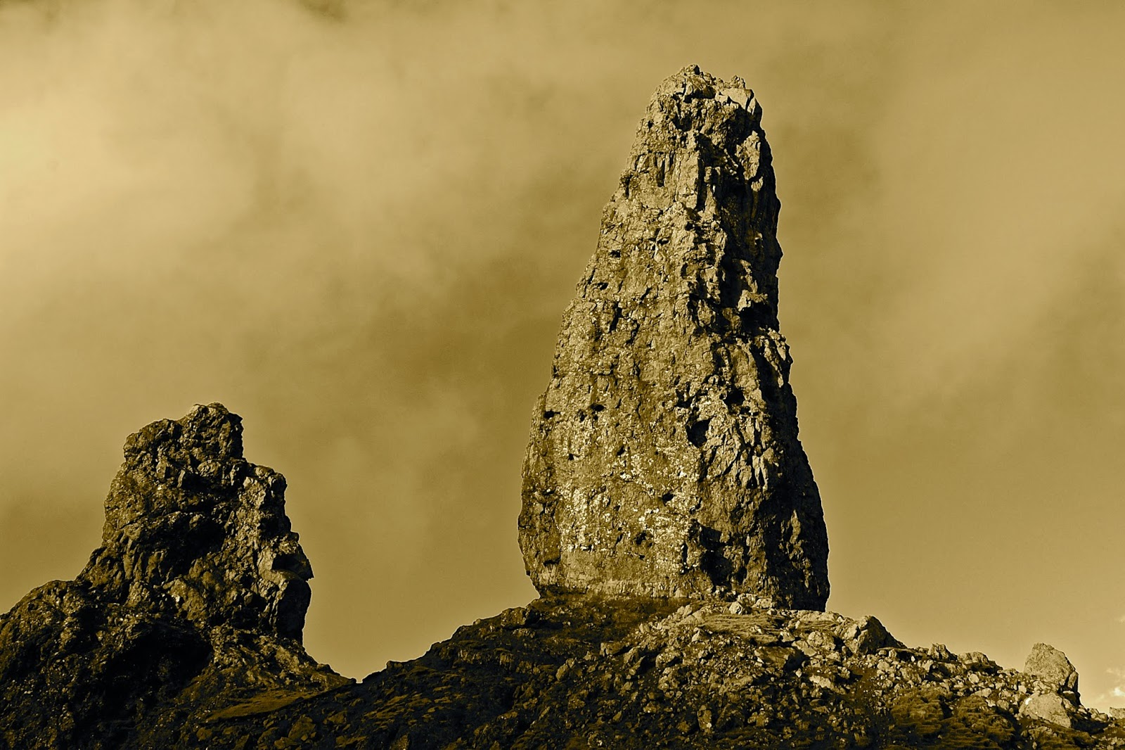 Old Man of Storr with the remains of his wife