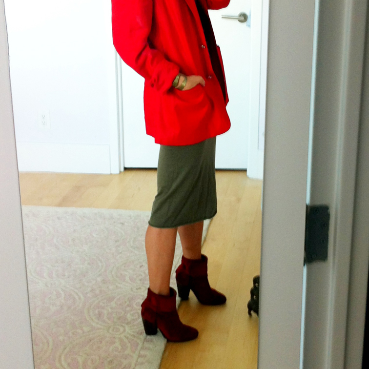 Red Suede Rag & Bone Newbury Booties