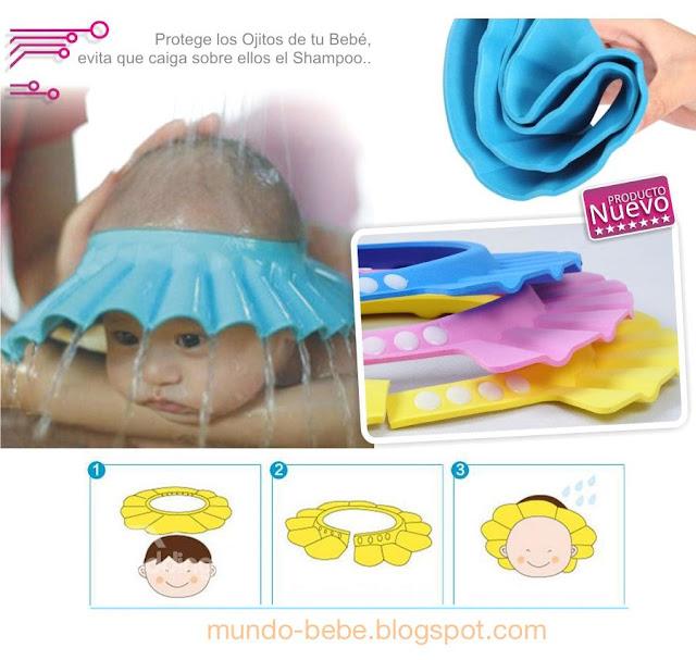 Bebesuelos - como evitar le caiga al bebe shampoo a los ojos durante el baño o aseo