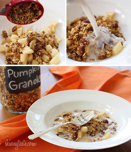 easy pumpkin spice granola skinnytaste com servings 11 serving size
