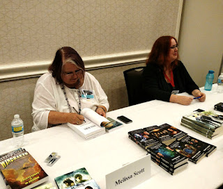 Authors Melissa Scott and Amy Griswold