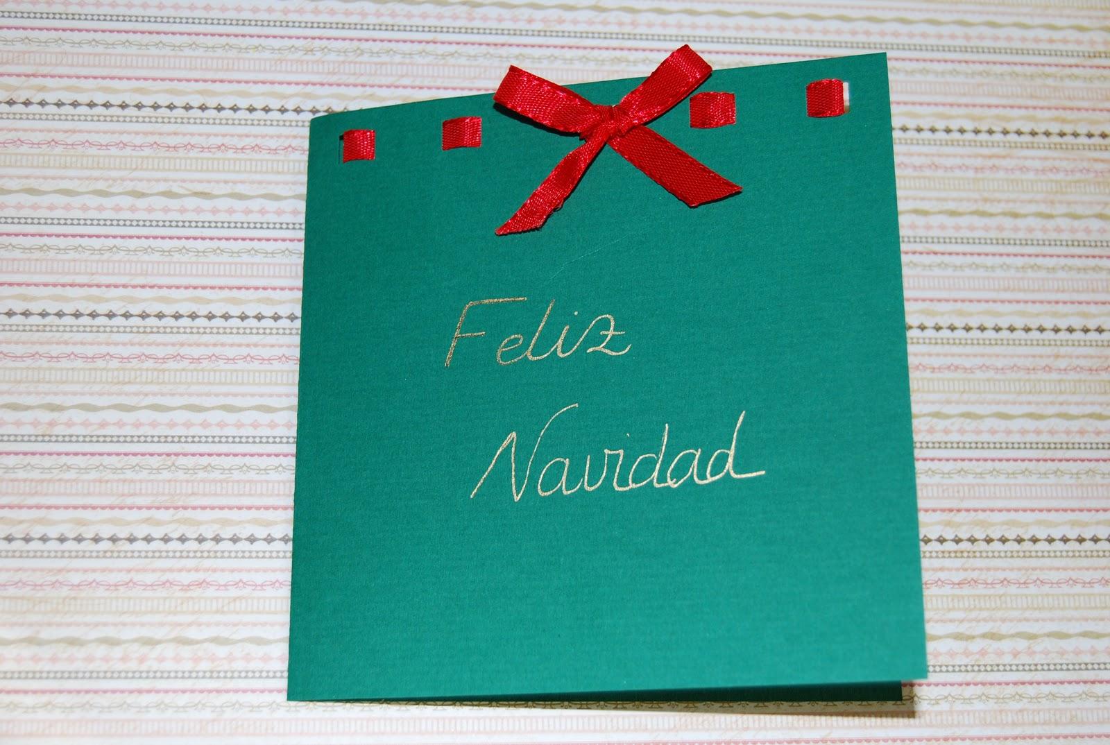 Delipapel como hacer tarjetas con lazos for Crear tarjetas de navidad