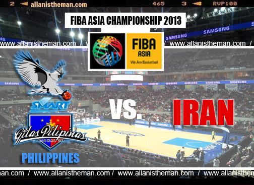 FIBA Asia 2013 Live Stream: Gilas Philippines vs Iran