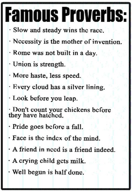 famous proverbs famous proverbs famous proverbs