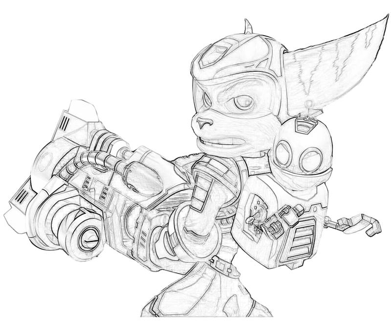 Free coloring pages of ratchet e clank