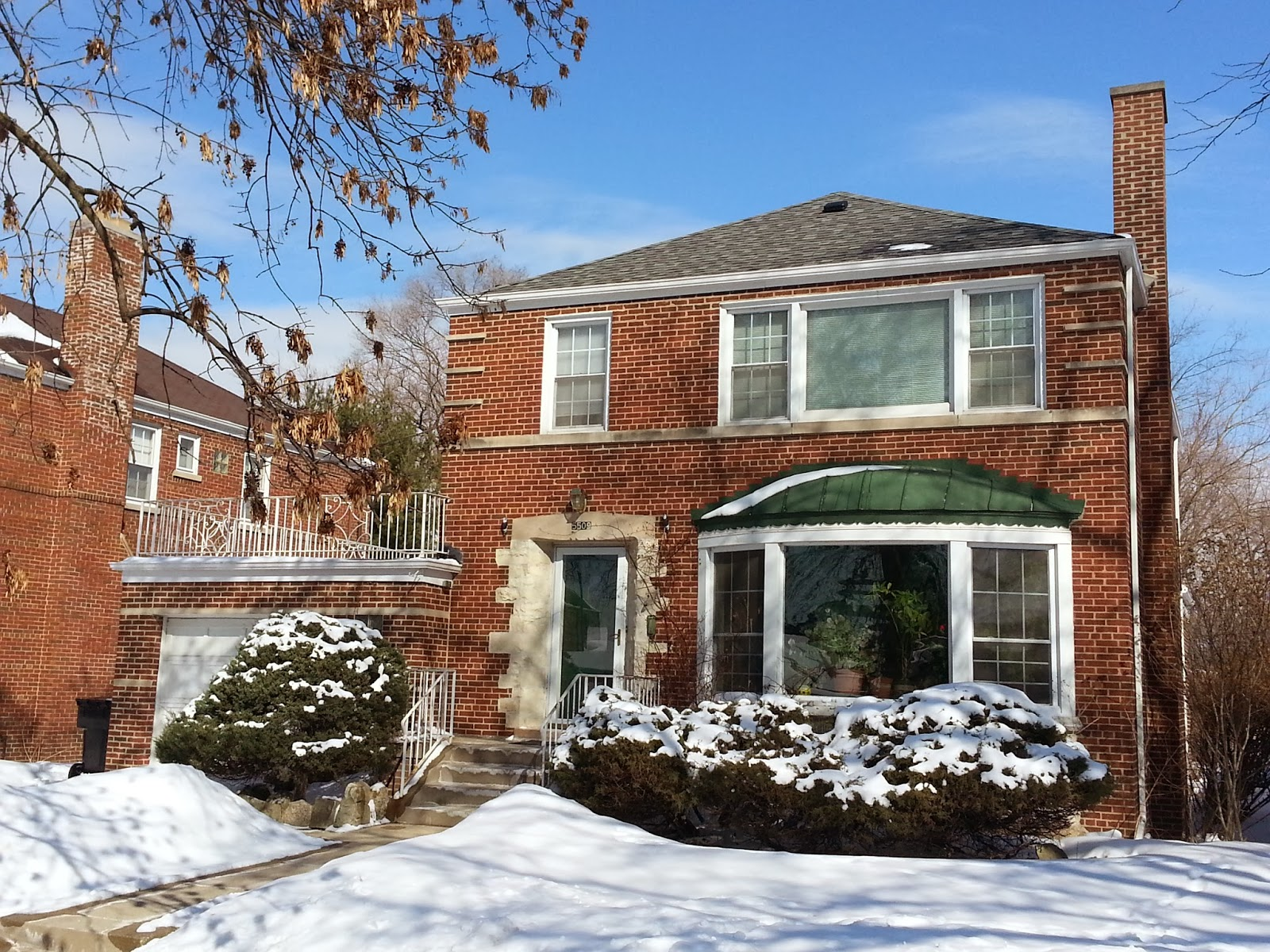 The chicago real estate local budlong woods home sales in for Georgian house