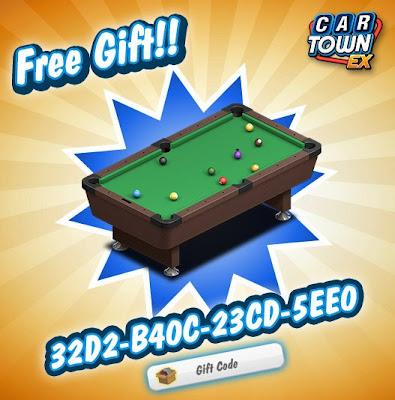 Car Town EX Free Gift Mesa de Pool
