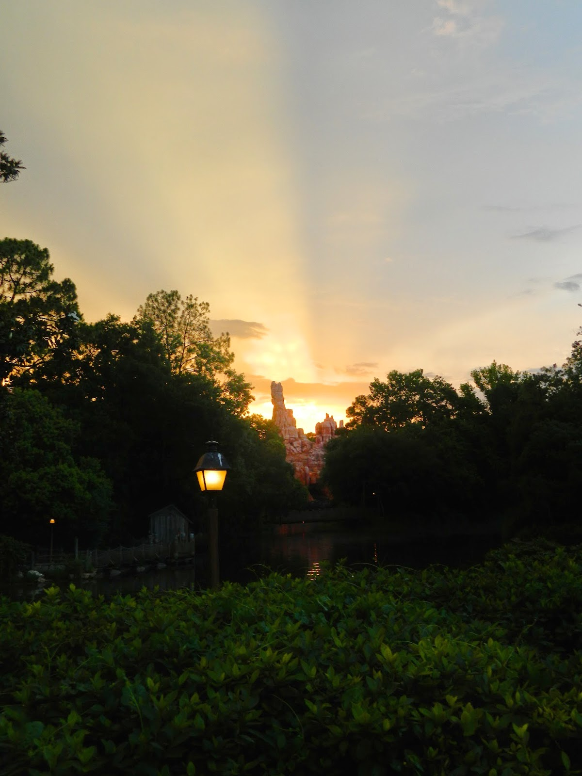 disney world sunset golden