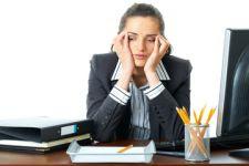 trabalhadora infeliz