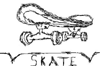 a desenhar Meninos Skatista   colorir