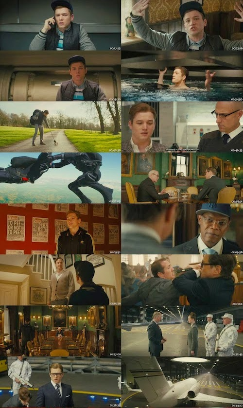 Kingsman The Secret Service (2014) Dual Audio [Hindi-Eng] BRRip 350mb ESub