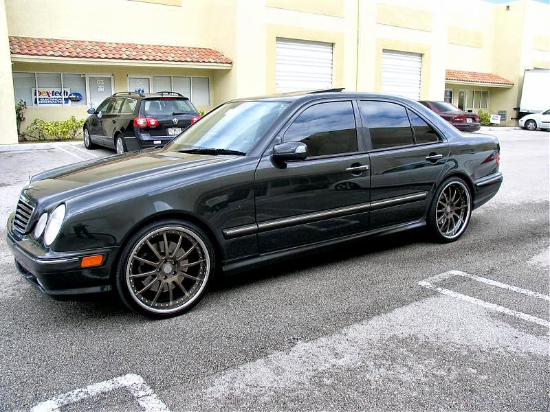 mercedes benz w210 e55 amg on 360forged 20 spec multi wheels benztuning. Black Bedroom Furniture Sets. Home Design Ideas