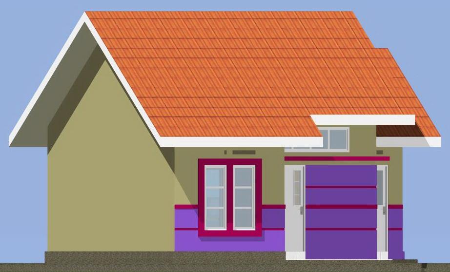 contoh rumah minimalis rumah type 45 dilahan lebar 7 meter