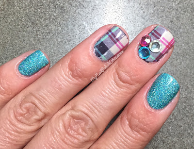 Lady Queen Plaid Water Decal Nail Art