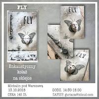 Michalin pod Warszawą kolaż enkaustyczny FLY