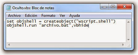 Script para ejecutar archivos BAT ocultos.