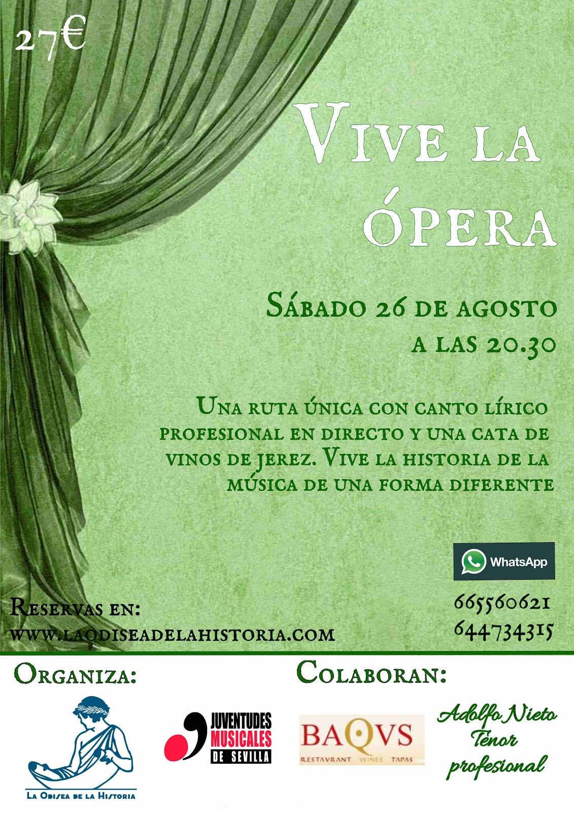 VIVE LA ÓPERA - *DESCUENTO DE 5 € PARA LOS SOCIOS DE JUVENTUDES MUSICALES.
