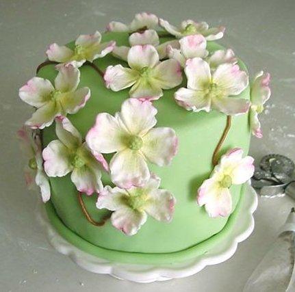 Decorate Cake With Fondant Flowers : Galen i cupcakes: Tartvecka - skillnaden mellan sugarpaste ...