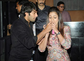 Arya giving party  for Nayantara's Birthday