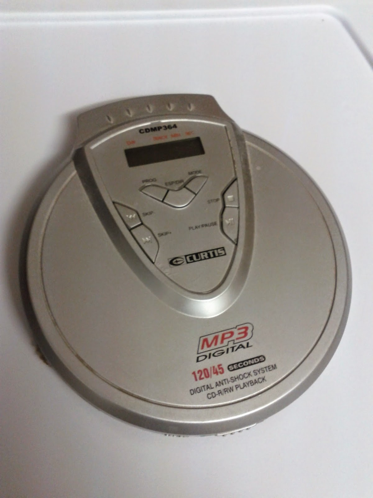 Stock photo: Discman grey / silver open